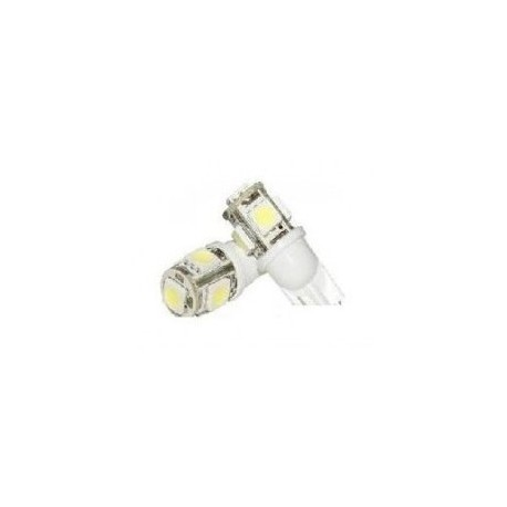 Bec auto led T10 5 smd alb