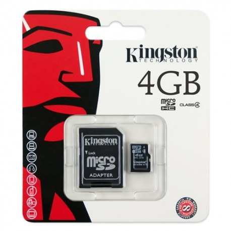 CARD MEMORIE MICROSD 4GB KINGSTON