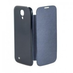 HUSA FLIP BOOK COVER CASE GALAXY S4 ALBASTRU