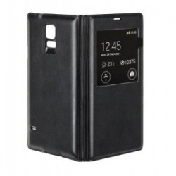 HUSA FLIP BOOK COVER CASE GALAXY S5 NEGRU