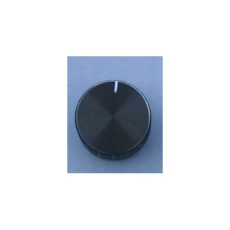 Buton potentiometru negru 32mm metalic